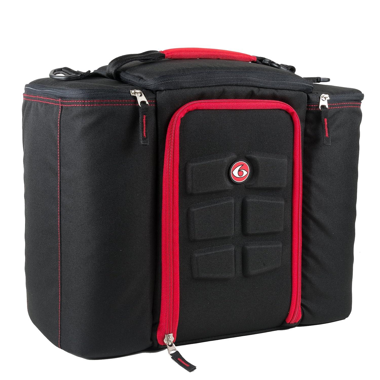 6 Pack Fitness Bag 5 Meal Management Innovator 500 - Black / Red