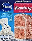 Pillsbury Cake Mix Moist Supreme Strawberry, 15.25 Ounce