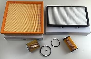 Filter Set Ölfilter Luftfilter Pollenfilter Kraftstofffilter Primastar Vivaro Traffic Auto