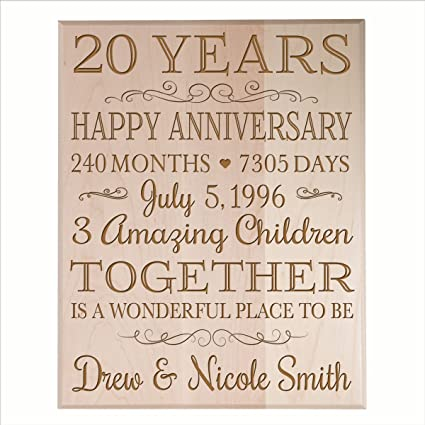 personalized 20th wedding anniversary gifts ideas for couple happy 20 year gift for him and