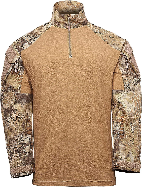 Kryptek Tactical LS Zip Long Sleeve Shirt (Tactical Collection)