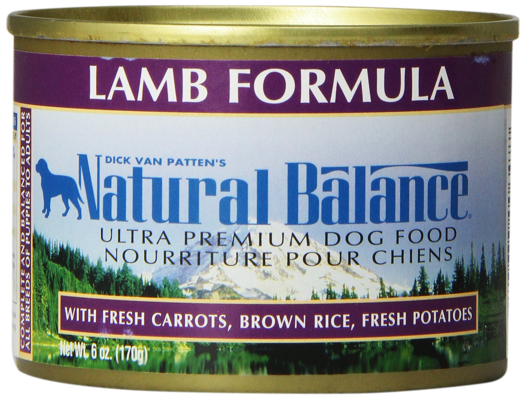Natural Balance Ultra Premium Canned Dog Food, Lamb Formula, 6-Ounce (Pack of 12)