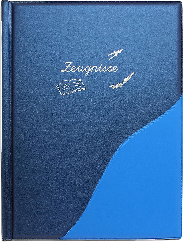 Idena 証明書フォルダー スリーブ12枚 メタリック A4サイズ ブルー 20015 B01GVU20C8
