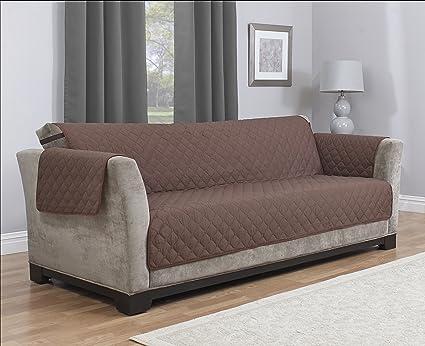 Furniture Fresh Waterproof Microfiber Furniture Protector With Elastic Back  Strap (Sofa, Chocolate)