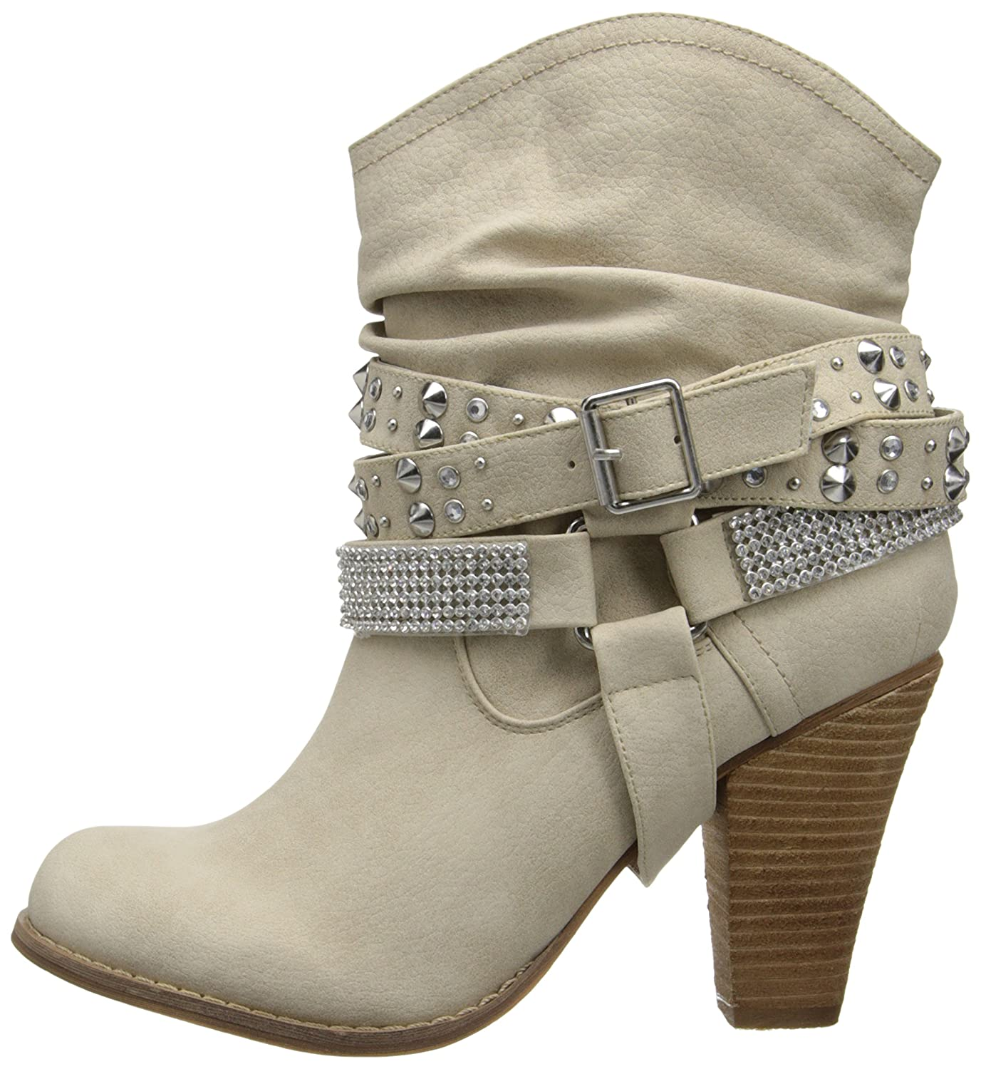Not Rated Women's Double Dip Harness Boot B00JH39H82 8 B(M) US|Cream