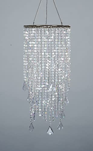 Amazon flavorthings 2 tiers 205 tall sparkling iridescent flavorthings 2 tiers 205quot tall sparkling iridescent acrylic beaded hanging chandeliergreat idea for aloadofball Choice Image