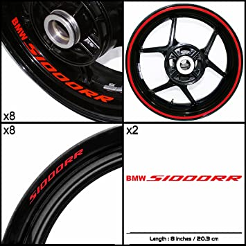 Thick Outer Rim Liner Stripe for BMW S1000R Gloss Red
