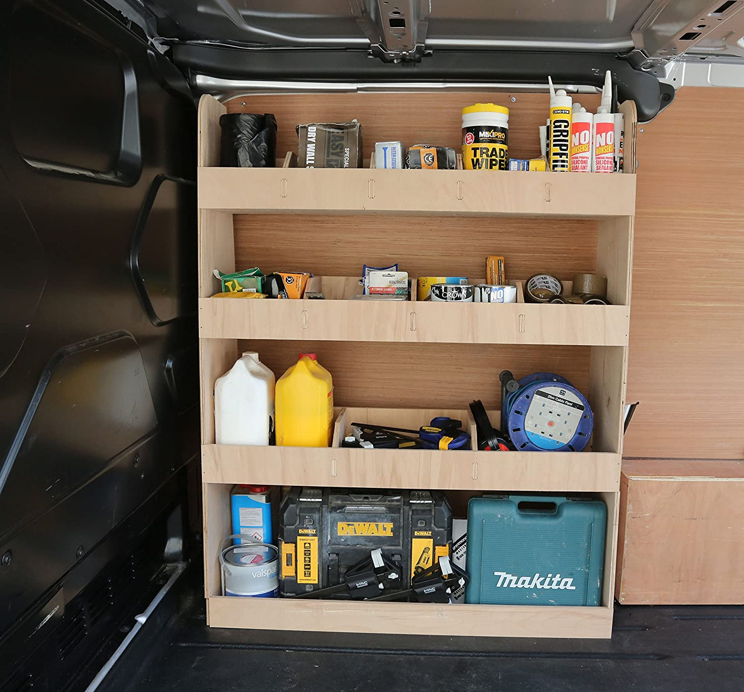 Ford Transit Custom SWB Plywood Racking OS Front 3x3x5 Vanify