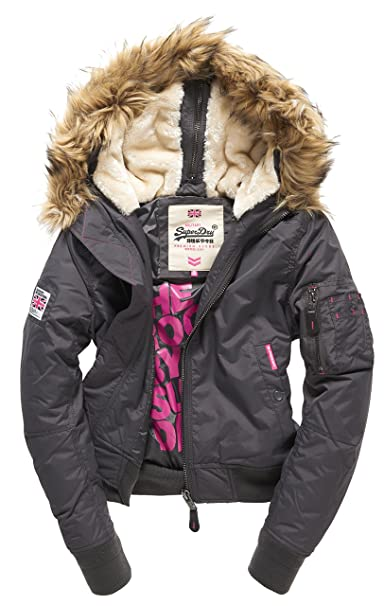Superdry RSD Winter FLITE Bomber, Abrigo Impermeable para Mujer, Gris (Gunmetal31A), XS: Amazon.es: Ropa y accesorios
