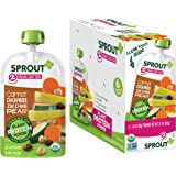 Sprout Organic Baby Food Pouches Stage 2, Plant Powered Protein, Carrot Chickpeas Zucchini Pear, 3.5 Ounce Pouches (Pack…