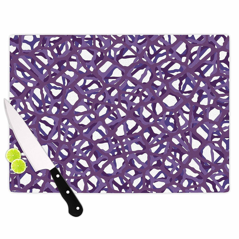 Multicolor 11.5 x 15.75 KESS InHouse TrebamVino Purple White Modern Vector Cutting Board