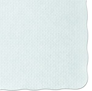 Hoffmaster PM32052 Knurl Embossed Scalloped Edge Placemats, 9 1/2 x 13 1/2, White (Case of 1000)