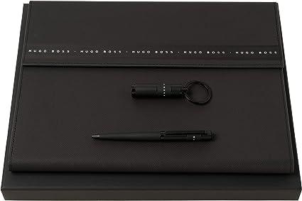 Hugo Boss Ribon - Set de bolígrafos y portafolios A4 y memoria USB, estuche de regalo: Amazon.es: Oficina y papelería