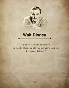 There is More Treasures By Walt Disney, Wall Art Book Quote Print, Inspirational Home, Office, School or Classroom Decor, Ideal Gift Teacher, Child, Student or Disney Fan, 11x14 Inch By H+CO Inspired