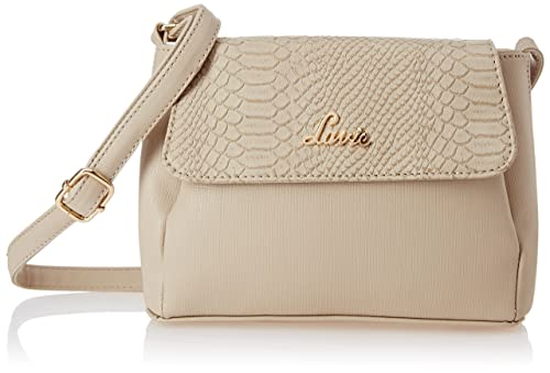f61e57be2 Lavie Jeffrey Women s Sling Bag (Beige)  Amazon.in  Shoes   Handbags
