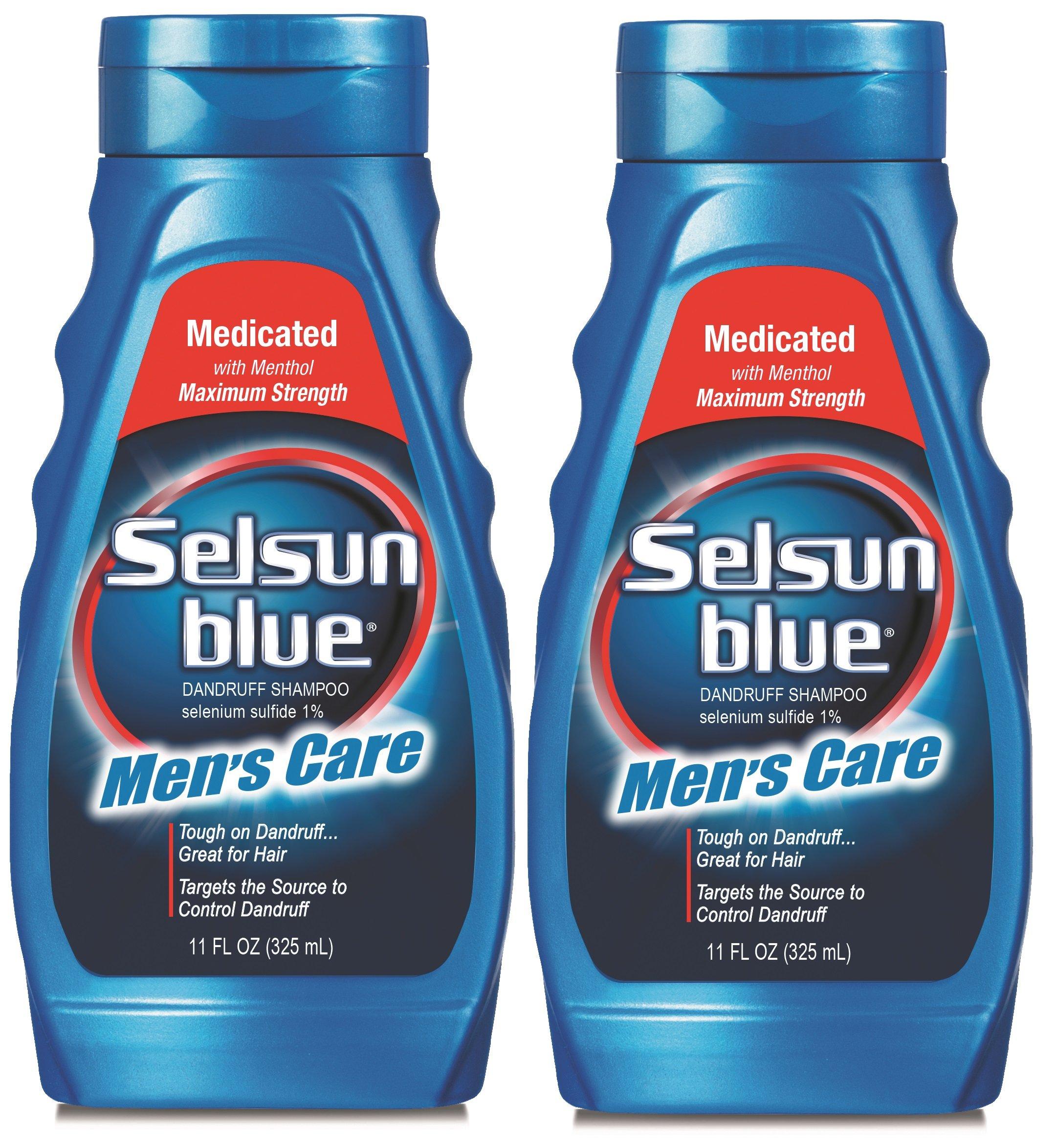 Selsun Blue Men's Care Dandruff Shampoo, 11 Ounce (Pack of 2) by Selsun Blue