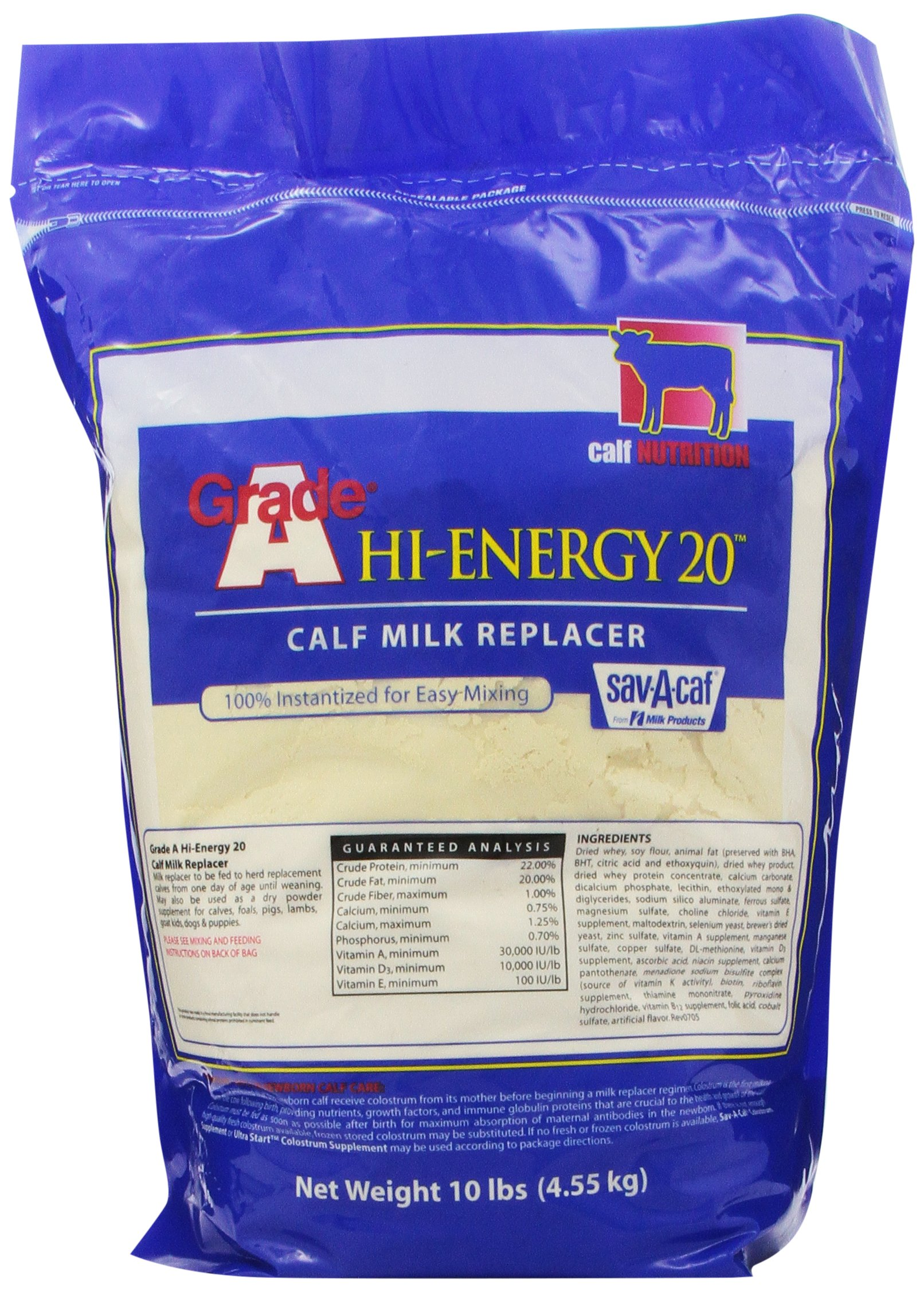Milk Products Grade A High Energy Milk Replacer, 10-Pound by Milk Products, Inc