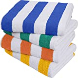 Utopia Towels Cabana Stripe Beach Towel (30 x 60 Inches) - 100% Ring Spun Cotton Large Pool Towels, Soft and Quick Dry Swim T