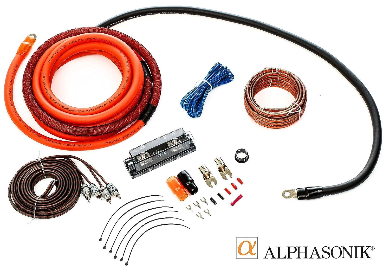 Alphasonik Aak0g Premium 0 Gauge Complete Car Amplifier 10 Awg Amp Wire Sub Subwoofer Wiring Kit Installation Hyper Flex Power Ground Speaker Rca Cable Exceeds
