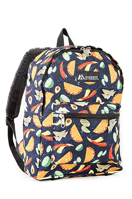 3701e11a6ac7 Everest Kids' Basic Pattern Backpack, Tacos One Size