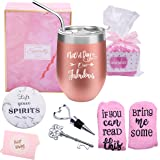 Yorktend Not a Day Over Fabulous Wine Tumbler - Fun Birthday Gifts for Women - Funny Birthday Wine Gifts Ideas for Her, Frien