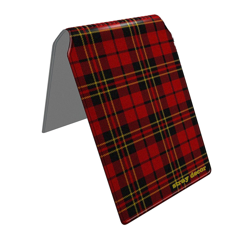 Stray Decor (Tartan) Buspass Fahrkartenhalter im Brieftaschenformat, IsarCard, fahrCard, RMV Clevercard, Kolibricard oder Karteninhaber auf Reisen SD-0126