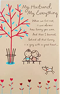 Amazon hallmark birthday greeting card for husband gold and my husband my everything happy birthday greeting card a guy i couldn m4hsunfo