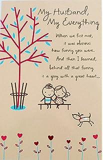 Amazon hallmark birthday greeting card to husband leaf my husband my everything happy birthday greeting card a guy i couldn m4hsunfo