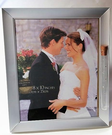 Amazoncom Bjcrystalgifts Jewish Wedding Picture Frame Holds