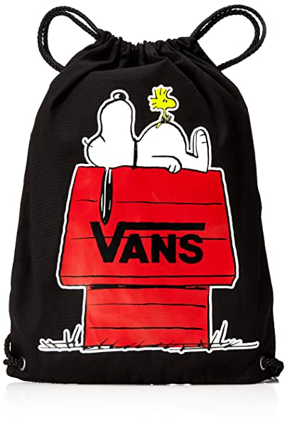 Vans Peanuts BENCHED Novelty Backpack Mochila Tipo Casual, 44 cm, 12 Liters, Negro