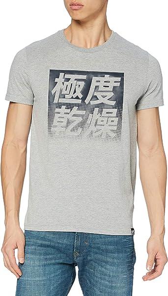 Superdry Halftone Kanji Emboss tee Camisa para Hombre
