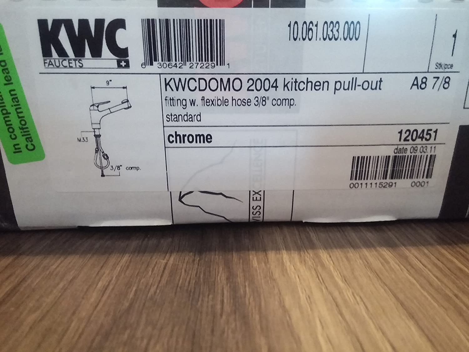 Kwc Kitchen Faucet Parts Kwc 10061033000 Domo 9 Pull Out Kitchen Faucet Top Lever