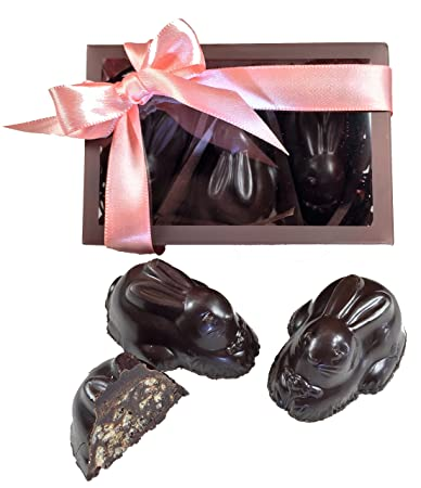 Amazon amore di mona luxury dark chocolate and crispy caramela amore di mona luxury dark chocolate and crispy caramela easter bunny gift box vegan negle Image collections