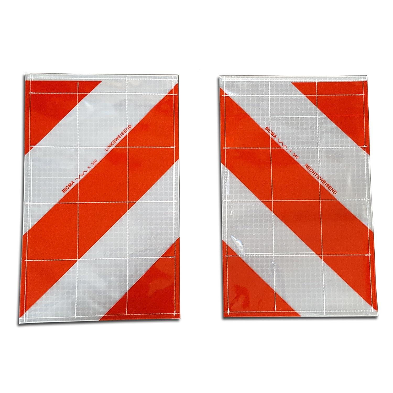 Trupa 2 x Warnflagge li + re/Warnflaggen Ladebordwand Heckmarkierung Links Rechts