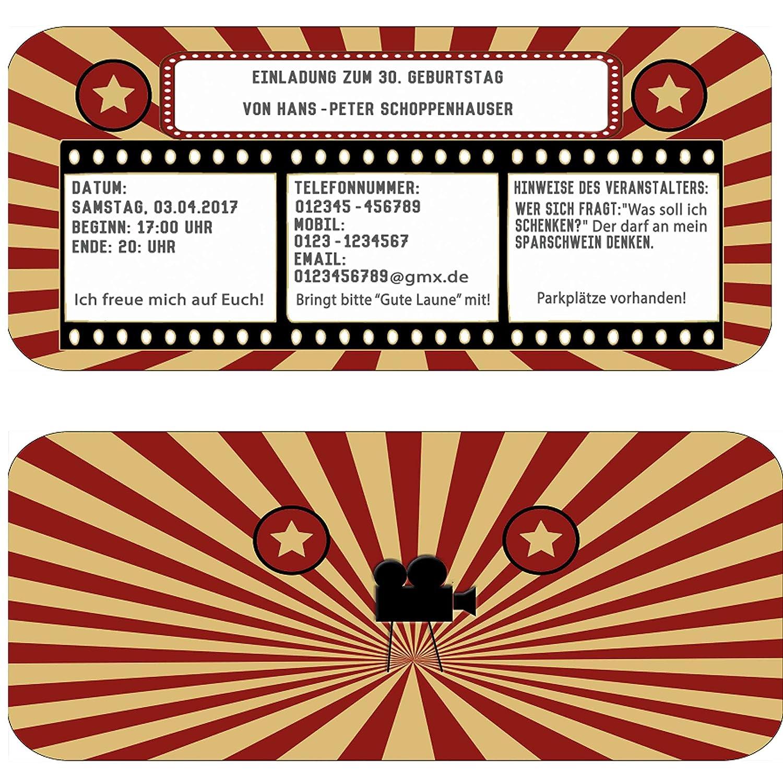 Einladungskarten als Kinokarte Geburtstag Party Feier Kindergeburtstag B00NU3OPYG | Verpackungsvielfalt