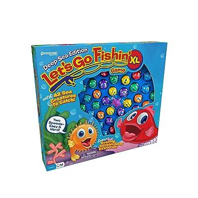 Pressman Let's Go Fishin' XL: Deep Sea Edition, Multicolor: Toys & Games