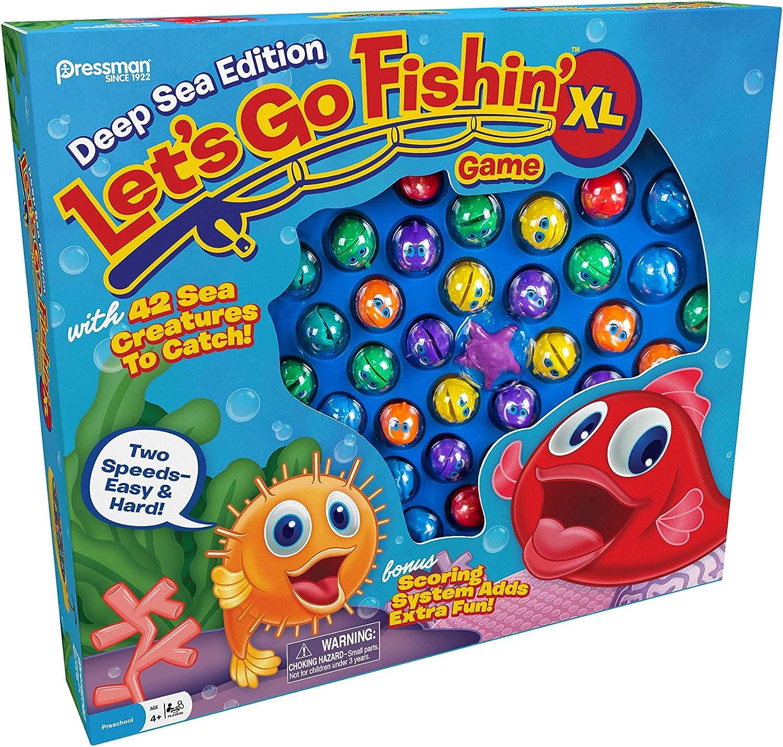Pressman Let's Go Fishin' XL: Deep Sea Edition, Multicolor