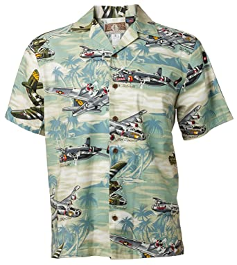 608f5e363 Hawaiian Shirt Sea Foam with Airplanes at Amazon Men's Clothing store: