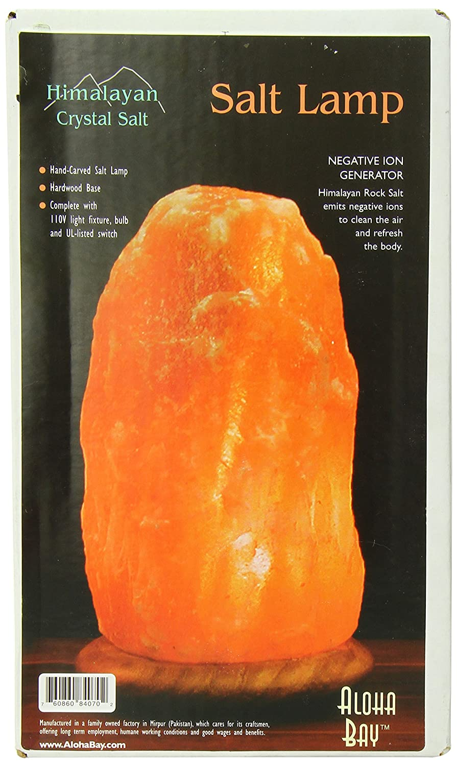 Amazon.com: Himalayan Salt Lamp 10 Inch Wood Base: Health ...