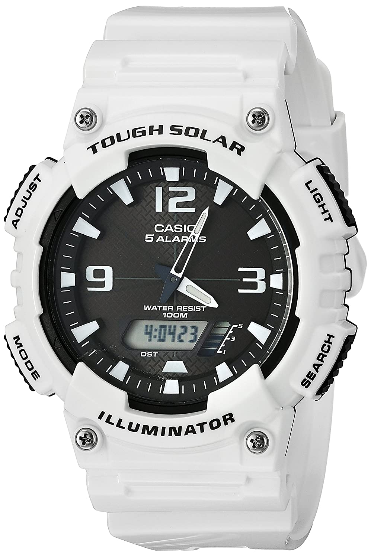 Casio Mens AQ-S810WC-7AVCF Analog-Digital Display Quartz White Watch