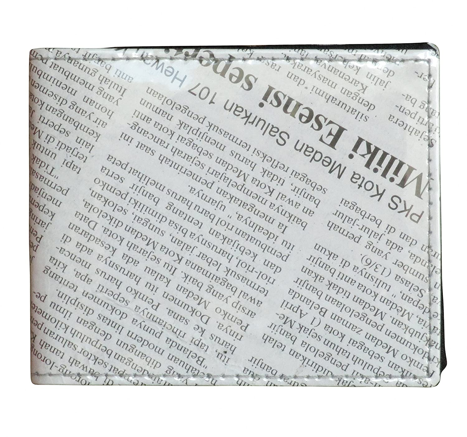 small mens wallet using newspaper free shipping bifold upcycled