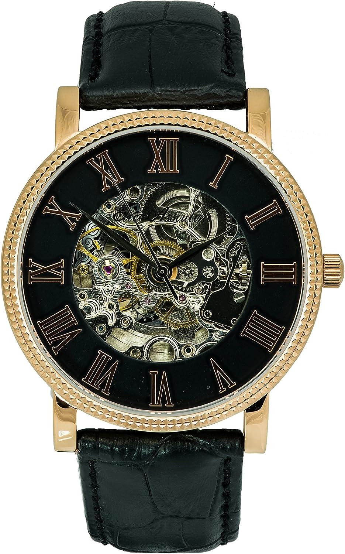 Elico Assoulini AM76125 Natalia Unisex Luxury Wrist Watch Japanese Quartz Movement – Black Leather Band – 42mm Case Size