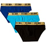 Euro Men's Cotton Brief (Pack of 3) (Colors May Vary)
