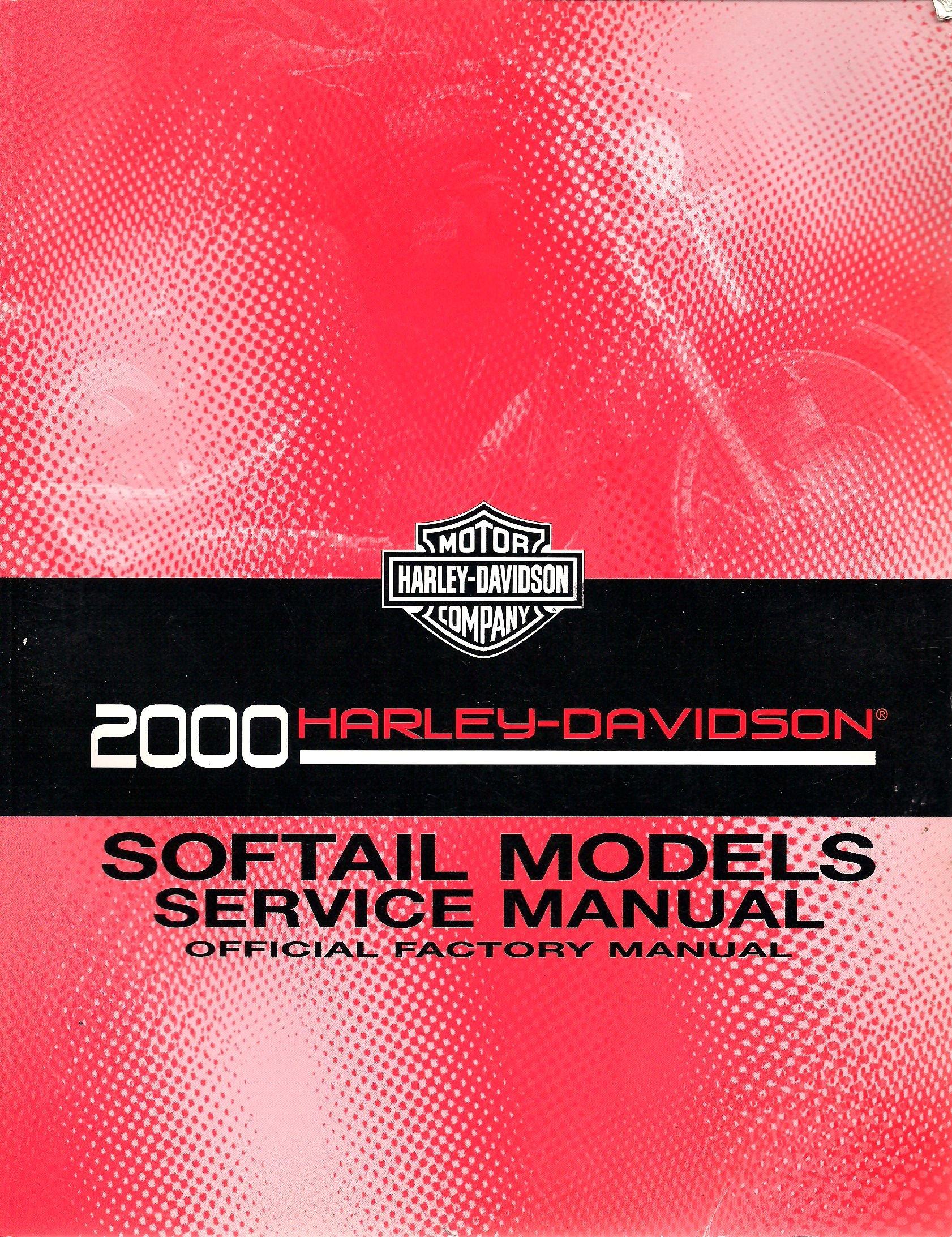 2000 Harley-Davidson Softail Models Service Manual, Official Factory Manual,  PN: 99482-00A: Harley-Davidson: Amazon.com: Books