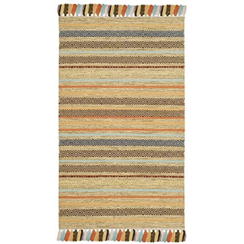 Safavieh Montauk Collection MTK901G Green and Multi Area Rug 3 x 5