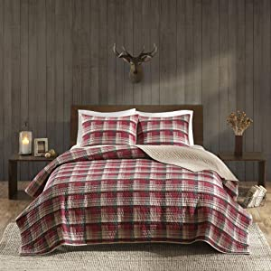 Woolrich Quilt Mini Set Full/Queen, Tasha Red