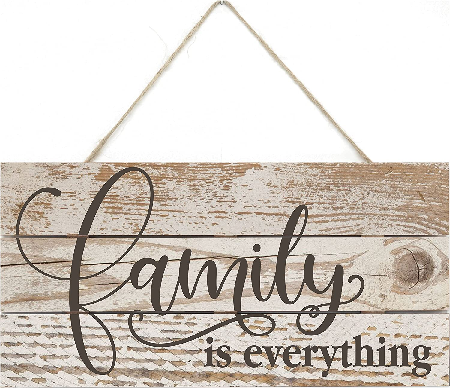 Family Is Everything Rustic Wooden Plank Sign 5x10
