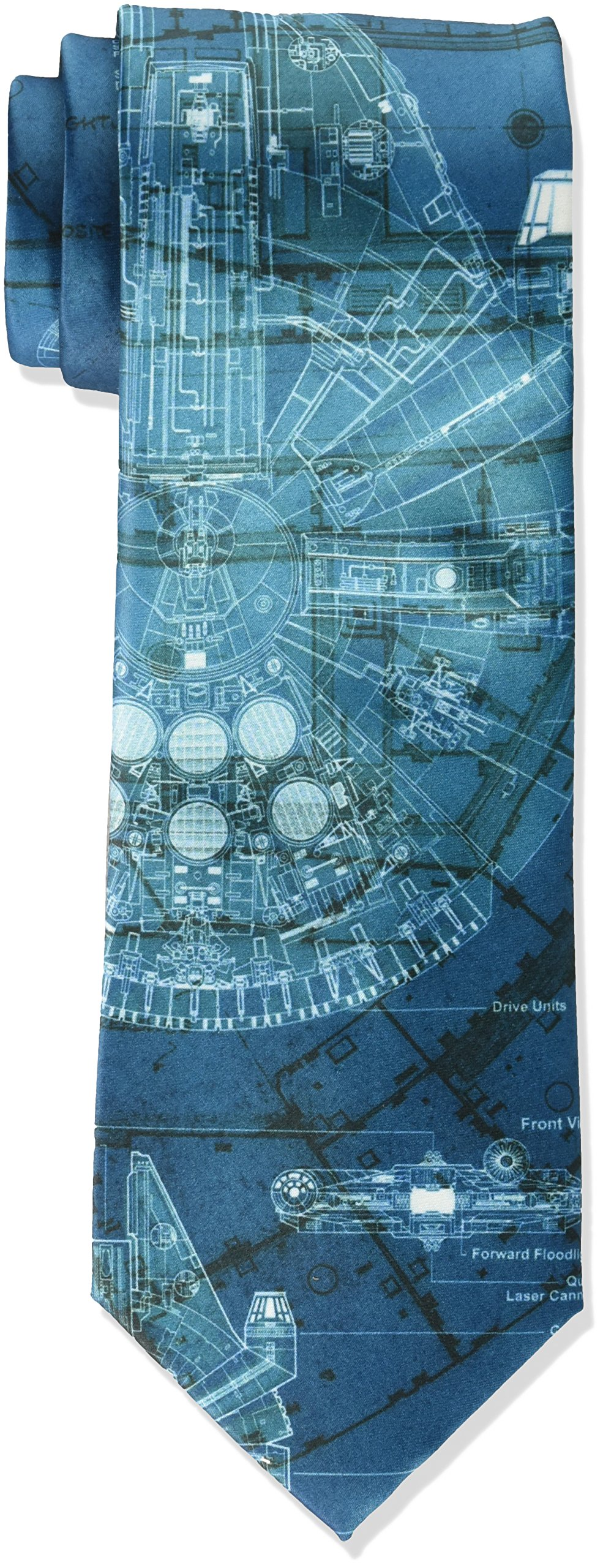 Star Wars Men's Millennium Falcon Tie, Teal, Regular