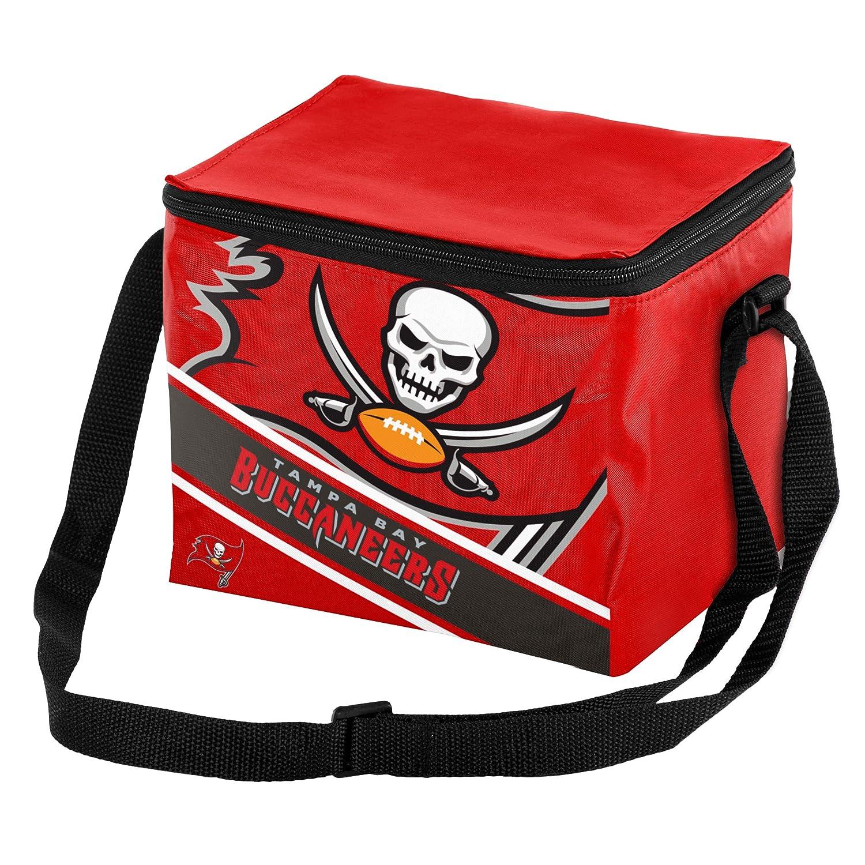FOCO NFL Unisex Big Logo Stripe 6 Pack Cooler
