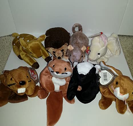 Image Unavailable. Image not available for. Color  Ty Beanie Babies - Lot  of 8 Forest Creatures e09b88c0d61f